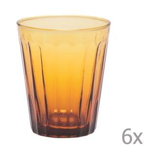 Sada 6 sklenic na vodu Lucca Honey, 450 ml