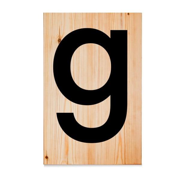 Dřevěná cedule Letters G