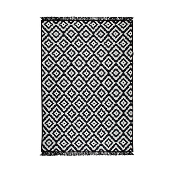 Helen fekete-fehér kétoldalas szőnyeg, 160x250 cm