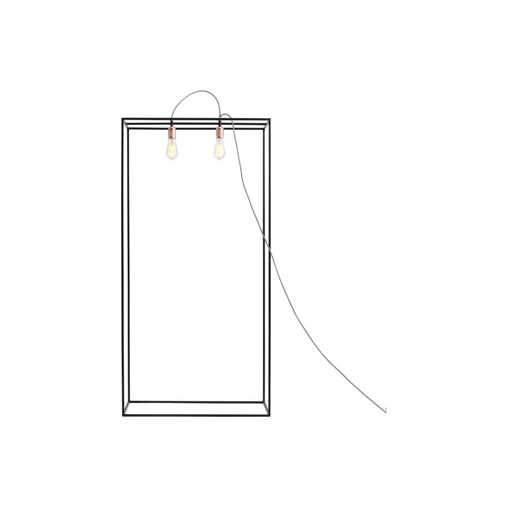 Černá stojací lampa Custom Form Metric, šířka 70 cm