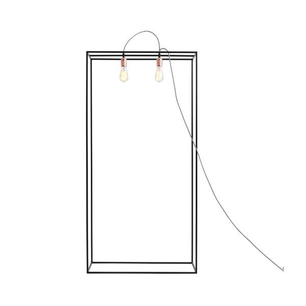 Černá stojací lampa Custom Form Metric, šířka70cm