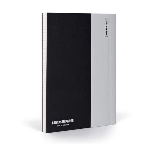 Zápisník FANTASTICPAPER XL Black/Cool Grey, čtverečkový