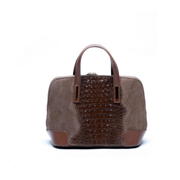 Kožená kabelka Mangotti 846 Fango