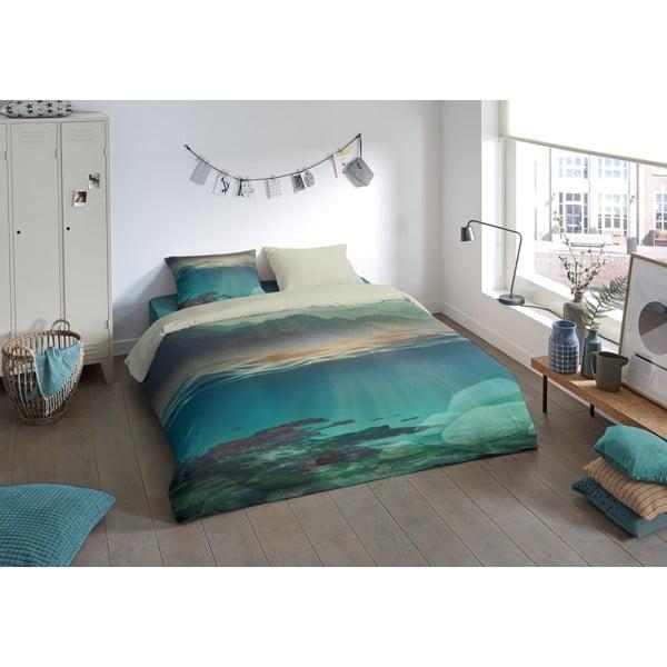 Povlečení na dvoulůžko z mikroperkálu Muller Textiels Metso, 200 x 240 cm