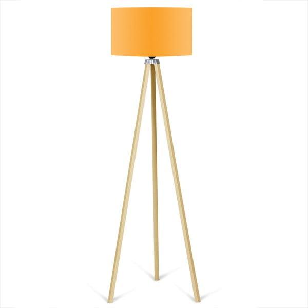 Volně stojící lampa s oranžovým stínítkem Kate Louise Naturel