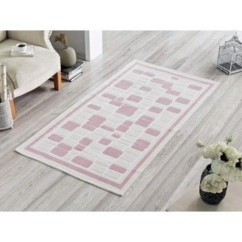 Covor Pink Tiles, 100 x 150 cm de la Sesli Home