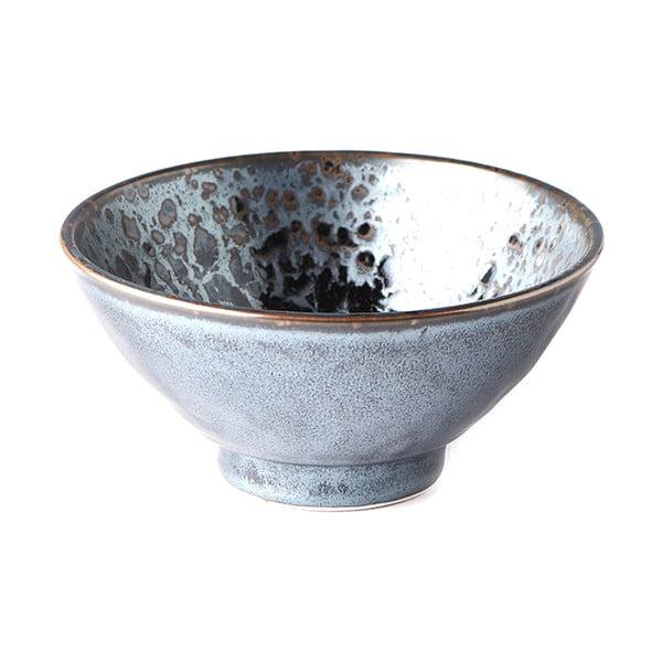 Černo-šedá keramická miska MIJ Pearl, ø 16 cm