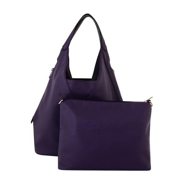 Tmavě fialová kožená kabelka Kris Ana Purple