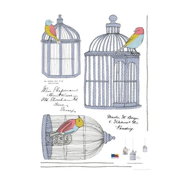 Set autocolante Ambiance Birds In Cage