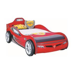 Červená dětská postel ve tvaru auta Coupe Carbed Red, 90 x 190 cm