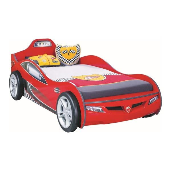 Coupe Carbed Red autó formájú piros gyerekágy, 90 x 190 cm