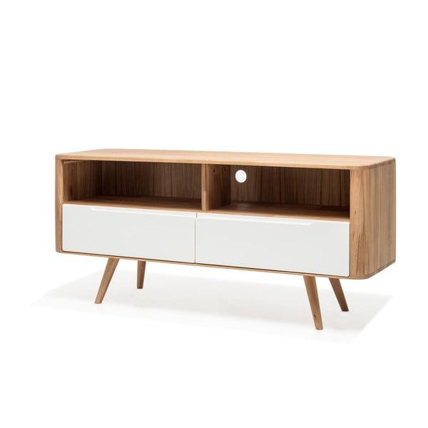 Televizní stolek z dubového dřeva Gazzda Ena Three, 135x42x60cm
