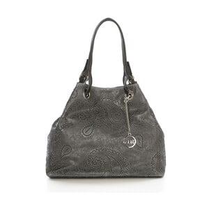 Tmavě šedá kožená kabelka Mia Tomazzi Miho