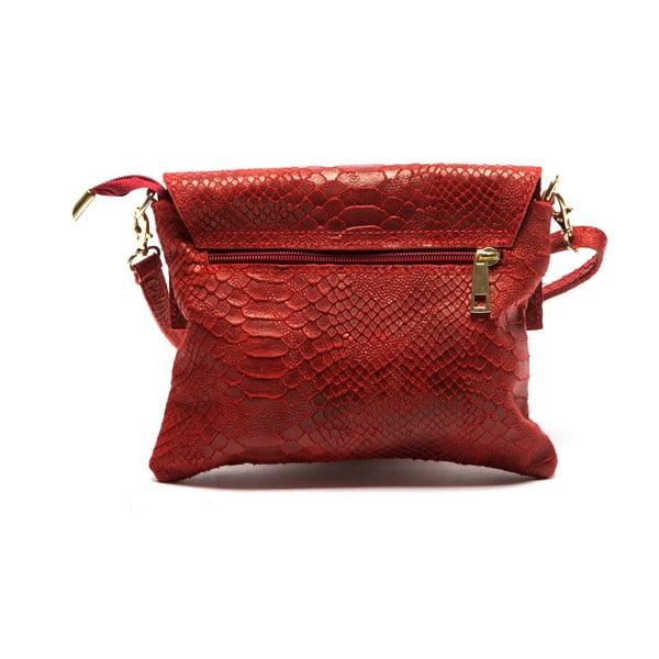 Červená kožená kabelka Sofia Cardoni Cira