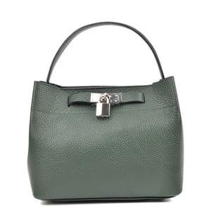 Zelená kožená kabelka Isabella Rhea Lock Verde