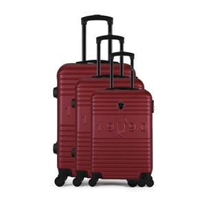 Sada 3 vínových cestovních kufrů na kolečkách GENTLEMAN FARMER Cadenas Integre Duro