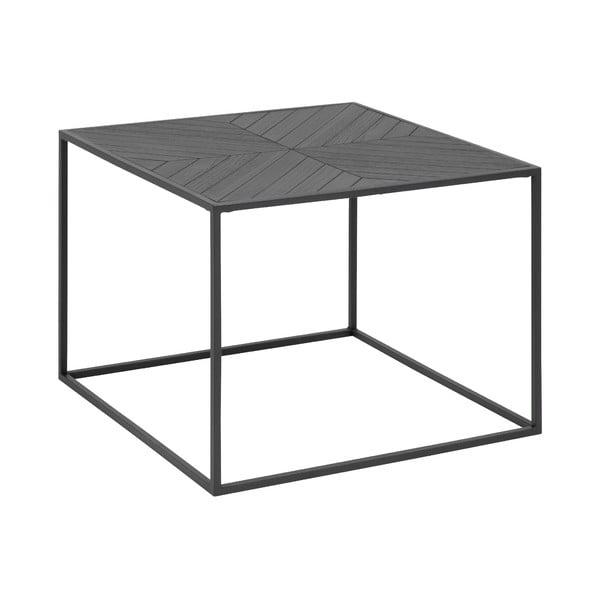 Czarny stolik Actona Orizs, 60x60 cm