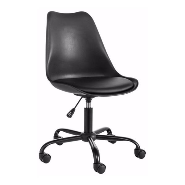 Czarny regulowany fotel biurowy Støraa Dan
