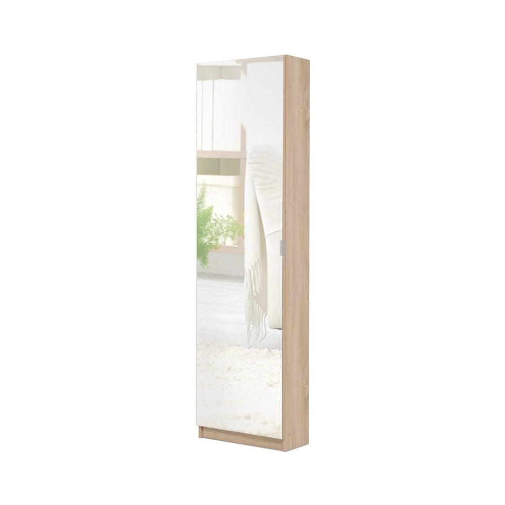 Zrcadlová skříňka na boty v dřevěném dekoru Intertrade Zumo
