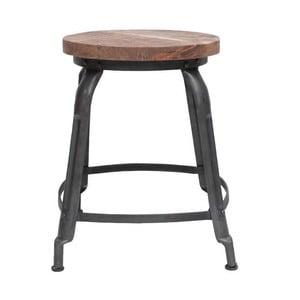 Šedá stolička se sedákem z mangového dřeva LABEL51 Delhi