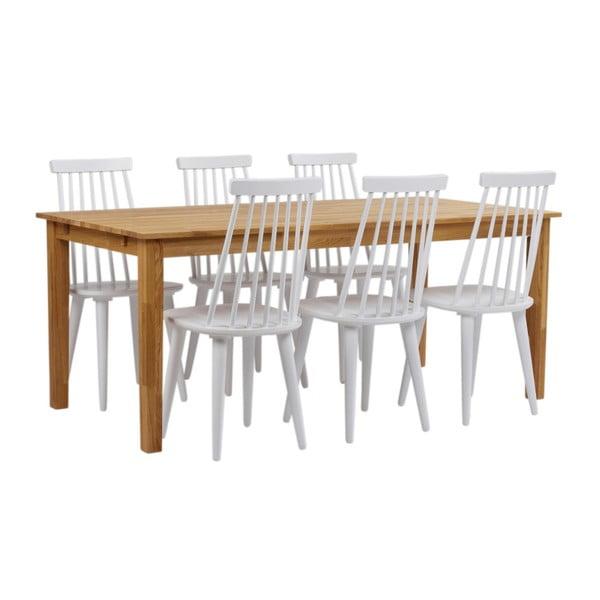 Jídelní stůl z masivního dubového dřeva Folke Finnus, 180x90cm
