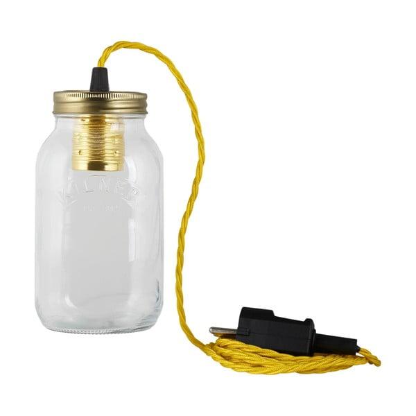 Svítidlo JamJar Lights, žlutý kroucený kabel