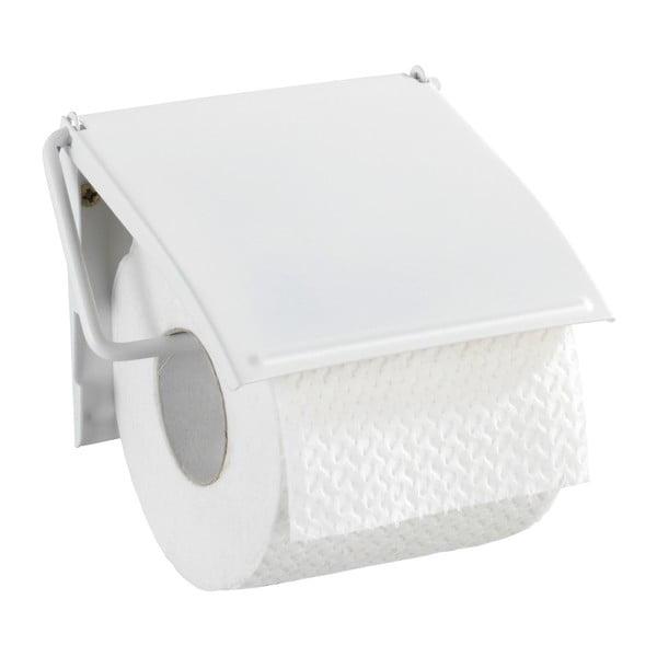 Bílý nástěnný držák na toaletní papír Wenko Cover
