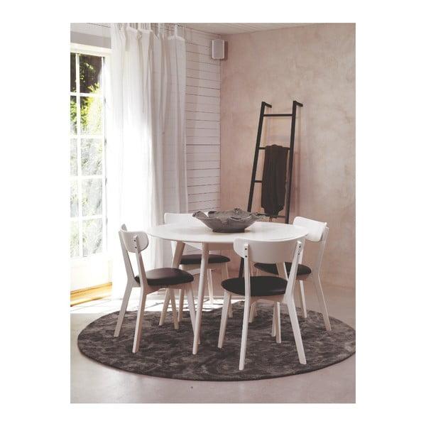 Bílý jídelní stůl z březového dřeva Folke Yumi, ∅115cm