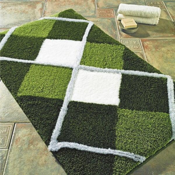 Zelená předložka do koupelny Confetti Bathmats Tuvana, 60x100cm