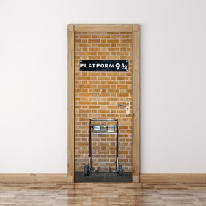 Tapeta na dveře WALPLUS Kings Cross, 88 x 200 cm