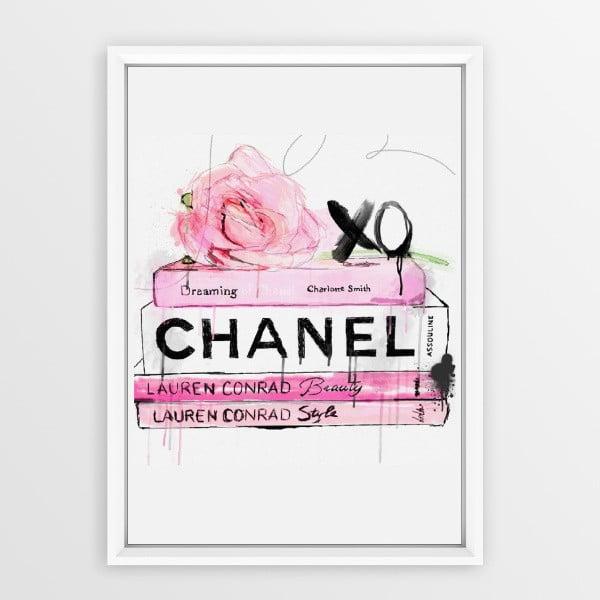 Plagát v ráme Piacenza Art Books Chanel, 30 × 20 cm