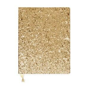 Zápisník ve zlaté barvě GO Stationery All That Glitters Star