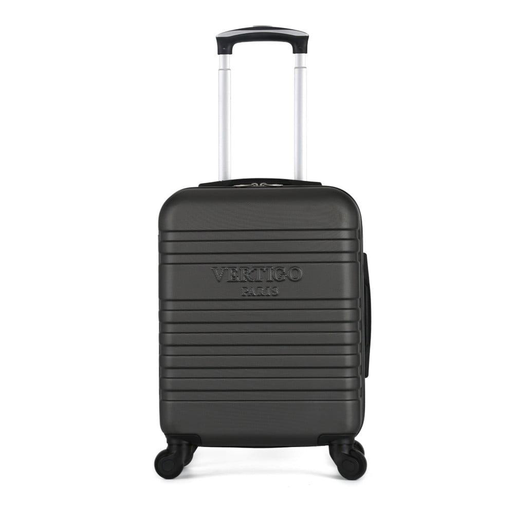 Tmavě šedý cestovní kufr na kolečkách VERTIGO Valises Cabine Cadenas Muela