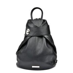 Černý kožený batoh AnnaLuchini Luciana