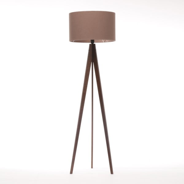Stojací lampa Artist Dark Taupe Felt/Dark Brown, 125x42 cm