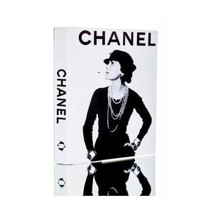 Dekorativní krabička ve tvaru knihy Piacenza Art Chanel Noir