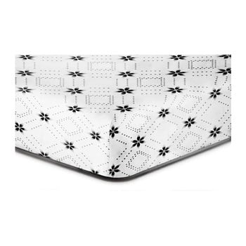 Cearșaf cu elastic, din microfibră DecoKing Hypnosis Snowynight, 90 x 200 cm, alb-negru de la DecoKing