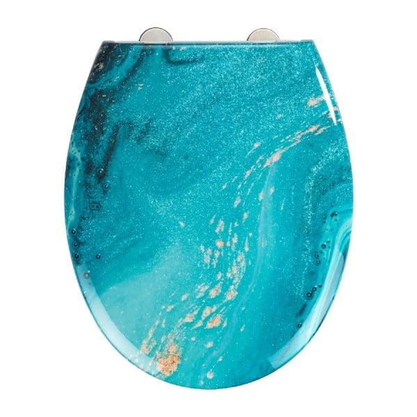 WC sedátko se snadným zavíráním Wenko Easy Stream, 44,5 x 37 cm