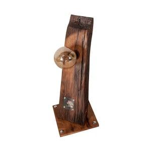 Stolní lampa z rekultivovaného dubového dřeva Flame furniture Inc. Eureka
