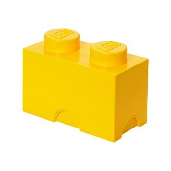 Cutie depozitare LEGO®, galben imagine