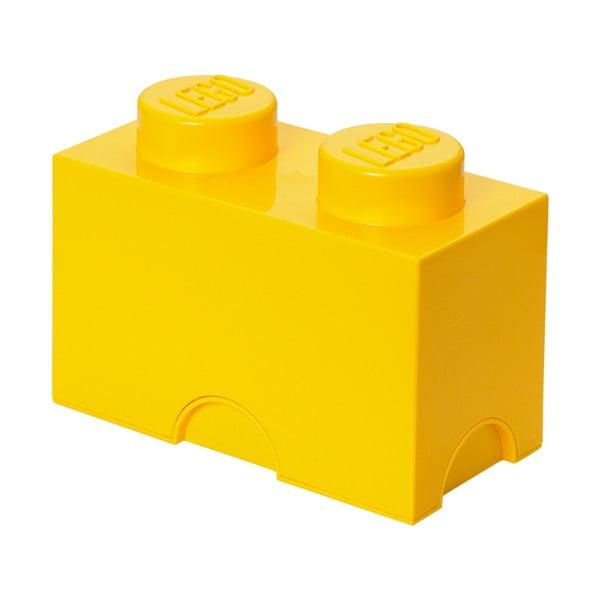 Żółty pojemnik podwójny LEGO®
