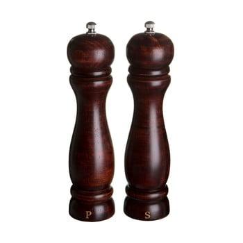Set 2 râșnițe din lemn pentru sare și piper Premier Housewares Olive
