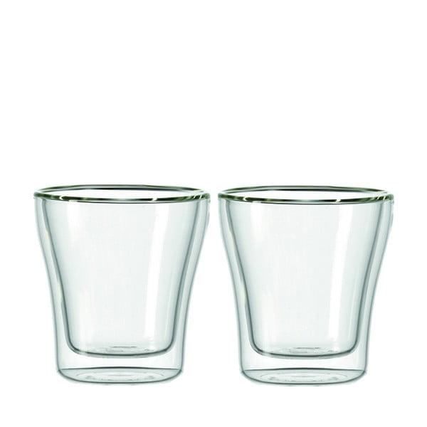 Sada 2 dvojstěnných sklenic LEONARDO Duo, 250 ml