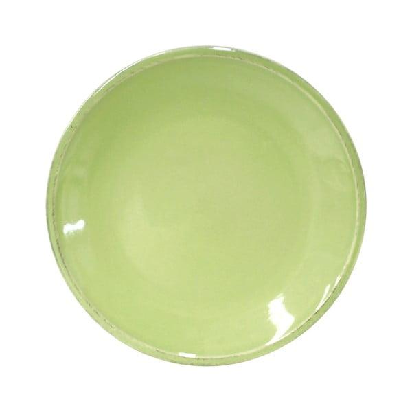 Zelený kameninový dezertní talíř Costa Nova Friso, ⌀22cm