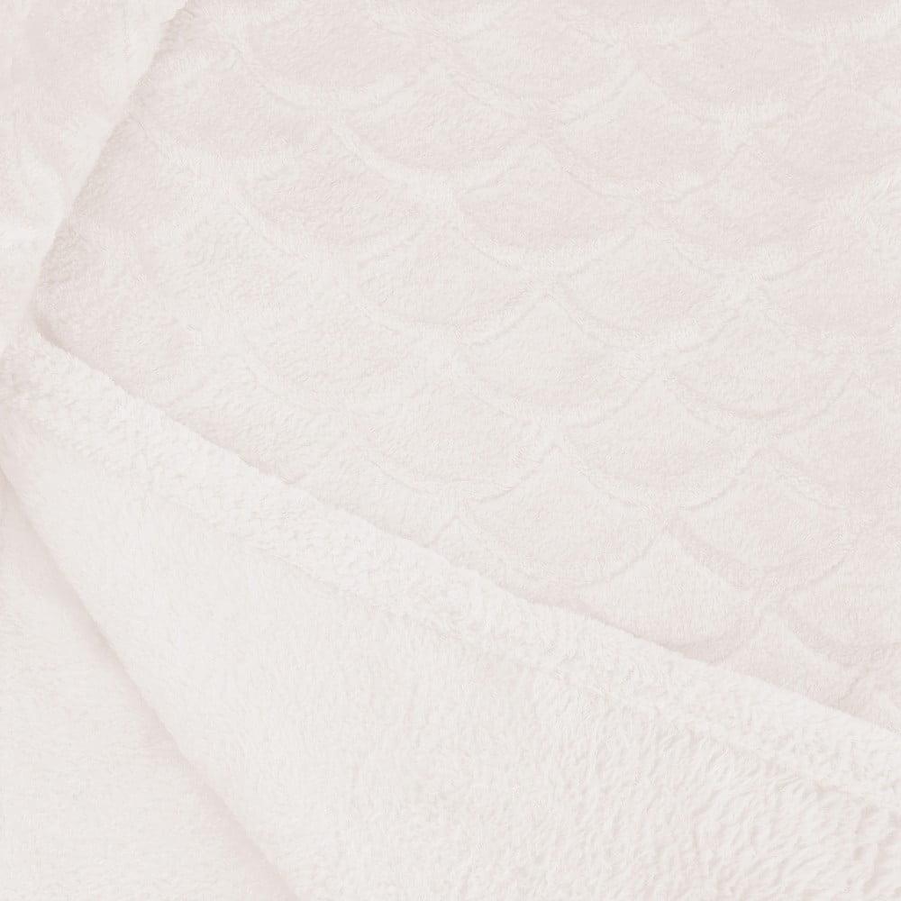Světle krémová deka z mikrovlákna DecoKing Sardi, 220 x 240 cm