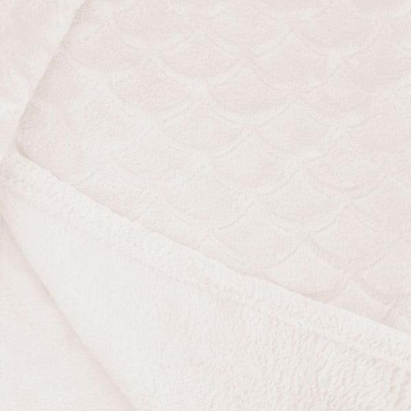 Jasnokremowy koc z mikrowłókna DecoKing Sardi, 150x200 cm