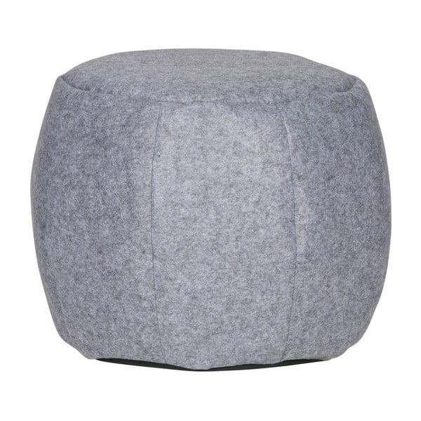 Světle šedý plstěný puf De Eekhoorn Sef, ⌀53cm
