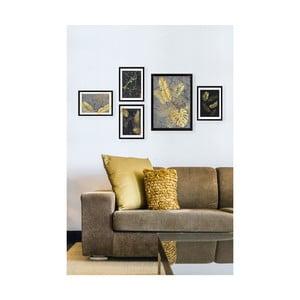 Sada 5 obrazů Tablo Center Golden Palm
