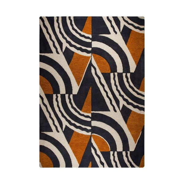 Covor țesut manual Flair Rugs Rythm Lifestyle, 200 x 290 cm, maro - portocaliu