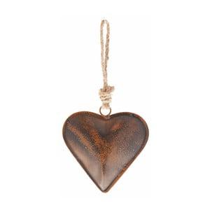 Závěsná dekorace ve tvaru srdce Antic Line, 36 cm
